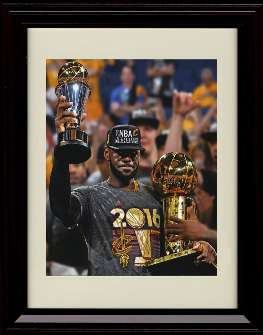 new style dca73 8514b Amazon.com: Framed LeBron James The King and the Trophies ...