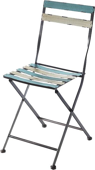 Silla plegable metal silla plegable silla de jardín Balcón silla de jardín muebles Vintage silla: Amazon.es: Hogar