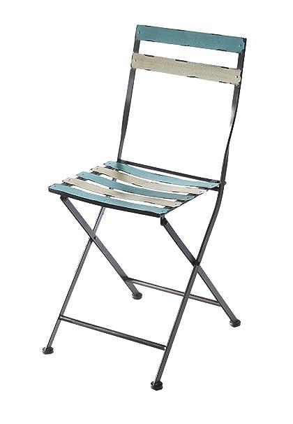 Silla plegable metal silla plegable silla de jardín Balcón ...