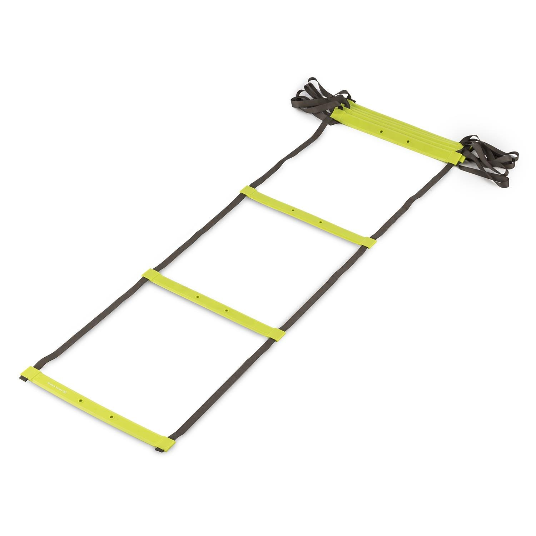 CAPITAL SPORTS Klarstride Scaletta Fitness Agilty Ladder Per Esercizi Cardio (4 metri, 9 Pioli Piatti in Pastica, 8 Campi d´azione) 8 Campi dŽazione)