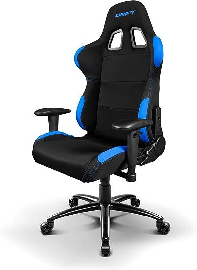 Drift DR100BL - Silla Gaming Profesional, (Tela Alta Calidad, Ergonómica), Color Negro/Azul: Drift: Amazon.es: Informática