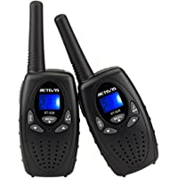 Retevis RT628 Walkie Talkie for Kids VOX Portable 22 Channel FRS Kids Walkie Talkies (Black,2 Pack)