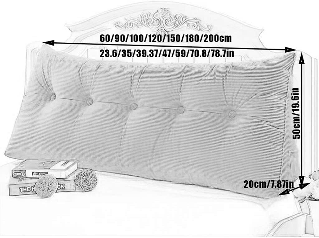 Size : 602050 Triangular Wedge Cushion for Sofa Bed Headboard Backrest Lumbar Pad Orchid Grass with Removable Cover