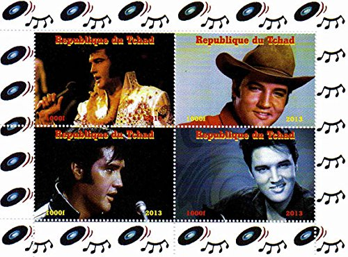 Elvis Presley stamps - Celebrating the life of the King - Mint and never mounted sheet with 4 stamps