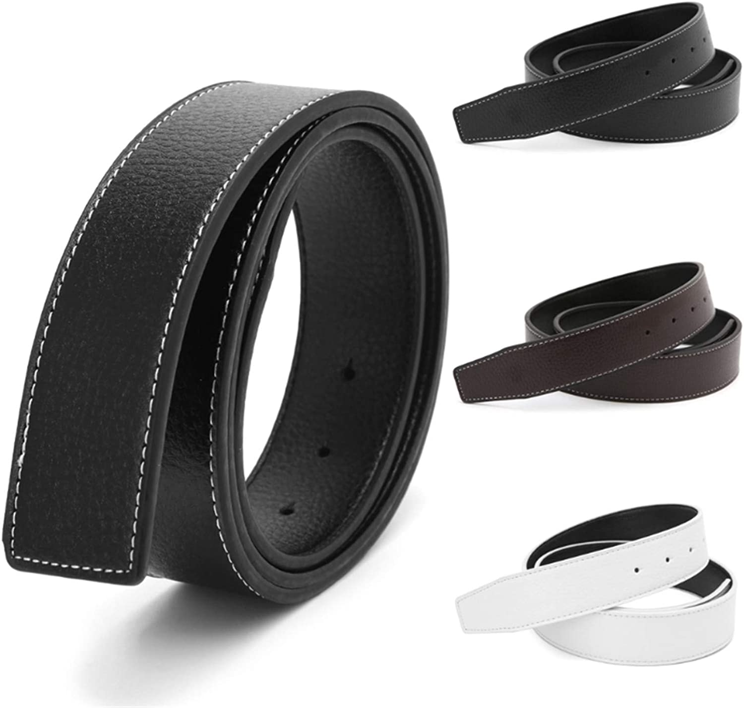 Nerefy Belts For Men Pin Buckle Male Strap Leather Waistband No Buckle
