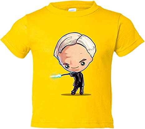 Camiseta niño Chibi Kawaii Harry Potter Draco Malfoy parodia - Amarillo, 3-4 años: Amazon.es: Bebé