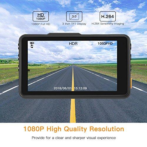 APEMAN Cam 1080P FHD DVR Recorder 170°Wide G-Sensor, WDR, Parking Motion Detection