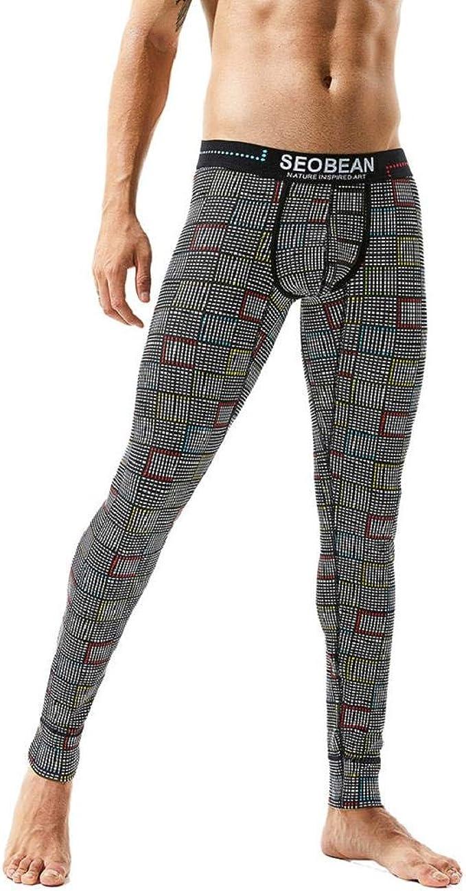 MISYAA Mens Yoga Pants, Retro Lattic Stretchy Pants Plaid ...