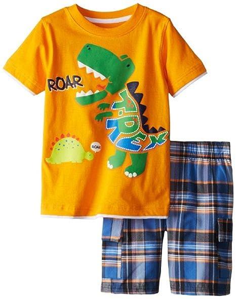6302bd5f5be6 Baby Box Little Boys' Short Sleeve Infant Clothing Toddler T-Shirt + Short  Pants