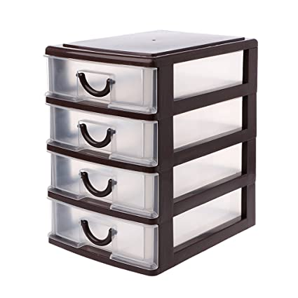 Techinal Desktop Organizer Drawer Storage Box Detachable Jewelry Makeup  Cabinets Case #01