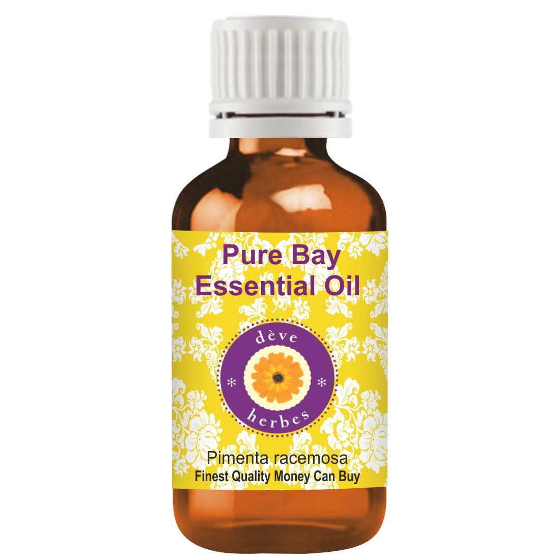 Deve Herbes Pure Bay Essential Oil (Pimenta racemosa) 100% Natural Therapeutic Grade Steam Distilled 30ml (1.01 oz)