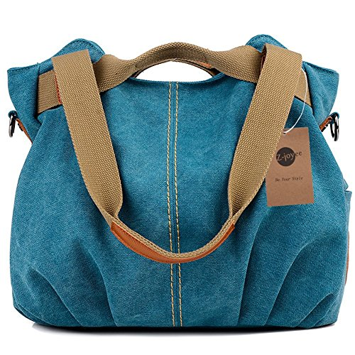 Z-joyee Women's Ladies Casual Vintage Hobo Canvas Daily Purse Top
