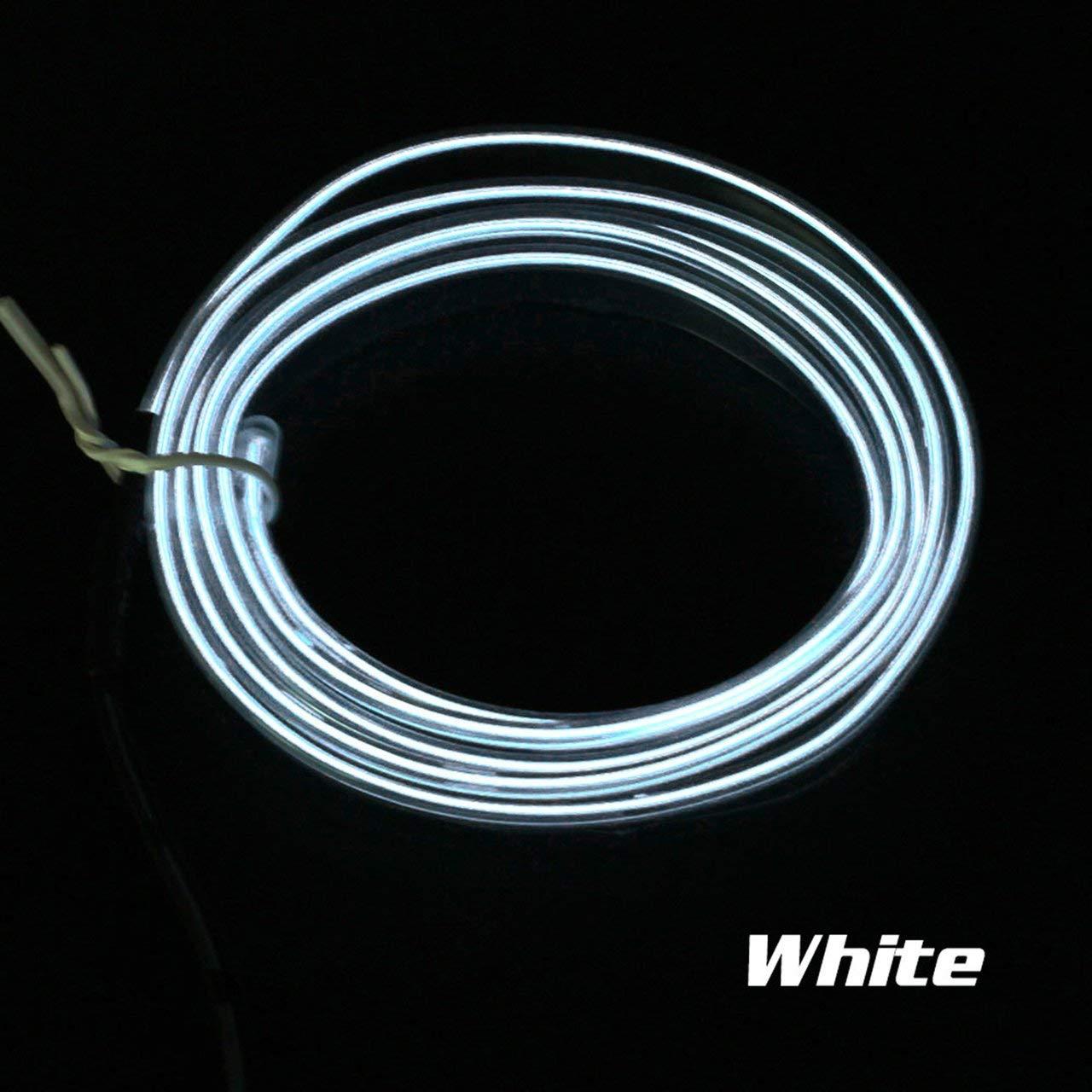 3 V rot jasnyfall LED EL Licht Neon Seil Auto Dance Glow Licht Streifen 12 V Controller USB Stick Auto Dekoration Licht Auto Styling Party Decor