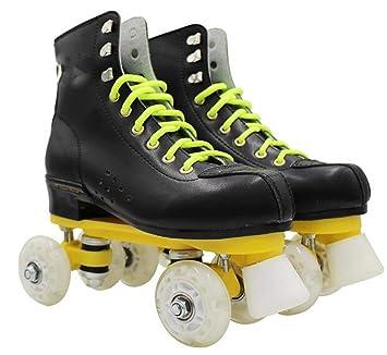 NUO-Z Patines de Doble Fila para Hombres y Mujeres Patines Flash Skate para Hombre Mujer Hombres y Mujeres hirviendo Zapatos Juguete equitación 4 Ruedas: ...