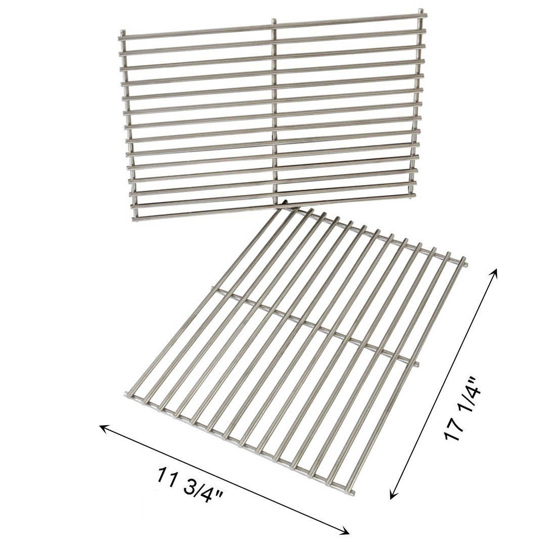 FAS INDUSTRY Cladding BBQ Cooking Grate Replacement Parts for Weber 7527 9930 Spirit and Lowes, Outdoor Cooking Grill Grid for Weber Grill Parts Replacement- 11 3/4'' x 17 1/4'', Set of 2 by FAS INDUSTRY