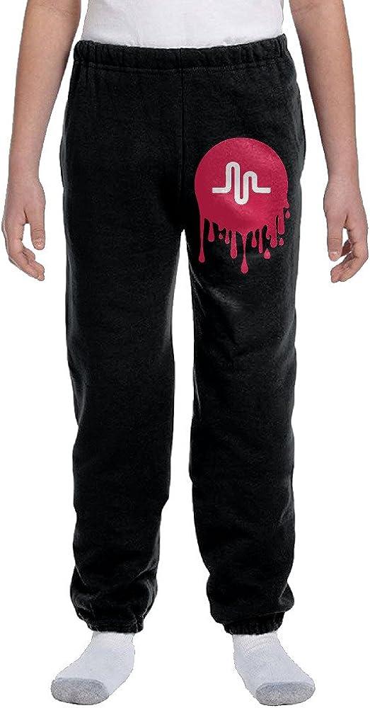 Fantastic Musial.ly Bleeding Logo Pants Closed Bottom Boys/&girls Long Top Cotton