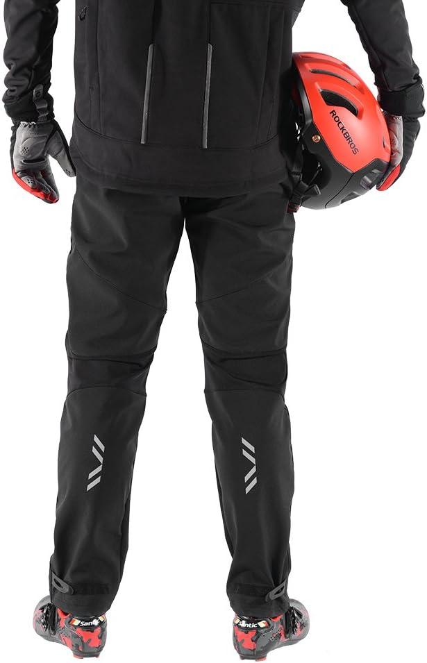 ROCKBROS Cycling Pants Winter Men Athletic Pants Warm Fleece Windproof Hiking Jogging Sports Pants