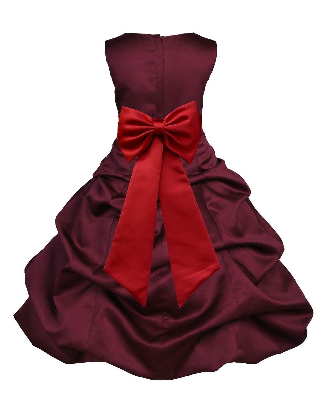 d7185129ab62 Top11: Wedding Pageant Burgundy Flower Girl Dress Handmade Recital Toddler  dress 808t