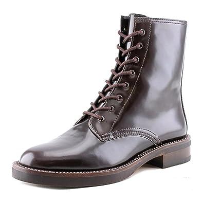 b62b2f6d6c3 Coach Eddison Women Round Toe Leather Oxblood Ankle Boot Size 5