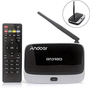 CS-918T 1080P Inteligente Android 4.4 TV Box Antena Externa con Mando a Distancia Rockchip RK3128 Quad Core ARM Cortex A7 1.3 GHz 2G / 16G H.265 XBMC ...