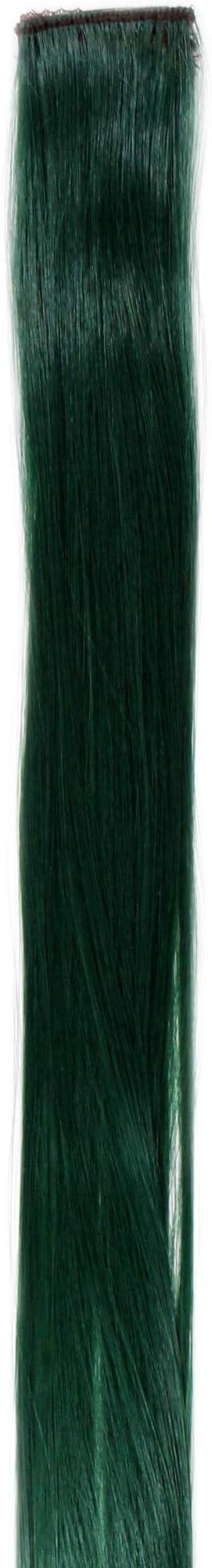 WIG ME UP- YZF-P1S18-T2610 Extensión de pelo con 1 clip mechón liso verde caqui 45 cm/ 18 inch
