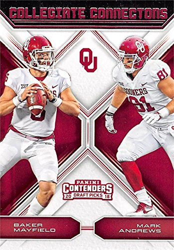 san francisco a0ada 54949 Baker Mayfield & Mark Andrews Football Card (Oklahoma ...