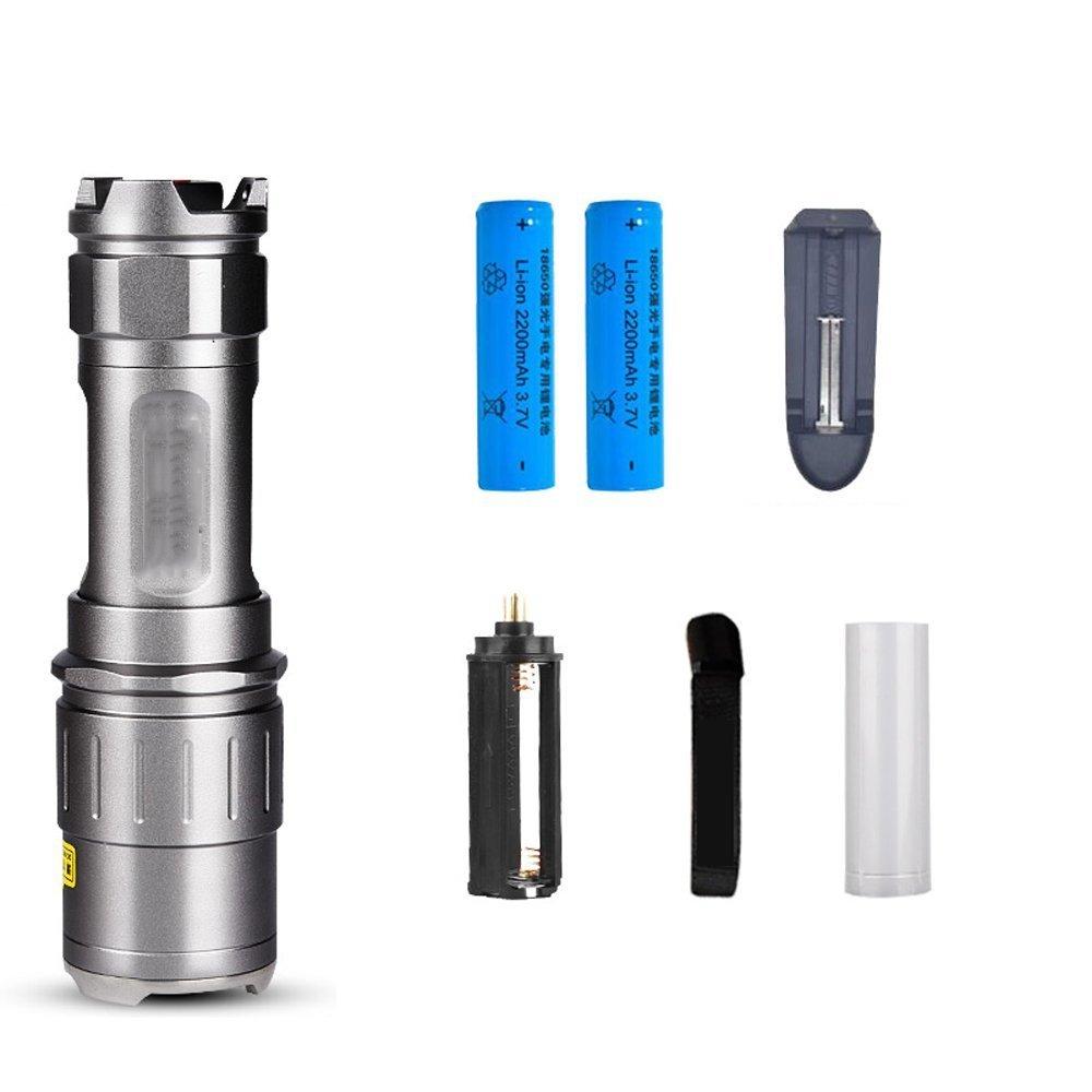 LED-Weitbereichs-Taschenlampe wiederaufladbare Mini-Multifunktions-Zoom-Licht-Taschenlampe für den Außenbereich