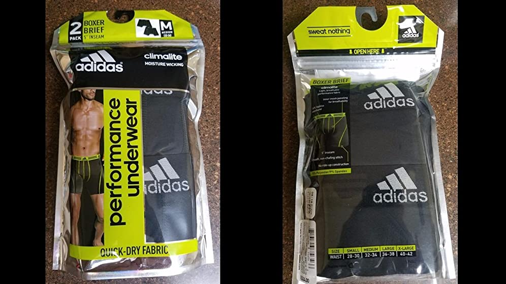 adidas Men's Sport Performance Climalite Boxer Brief Underwear (2 Pack) Comfortable, well-constructed boxers