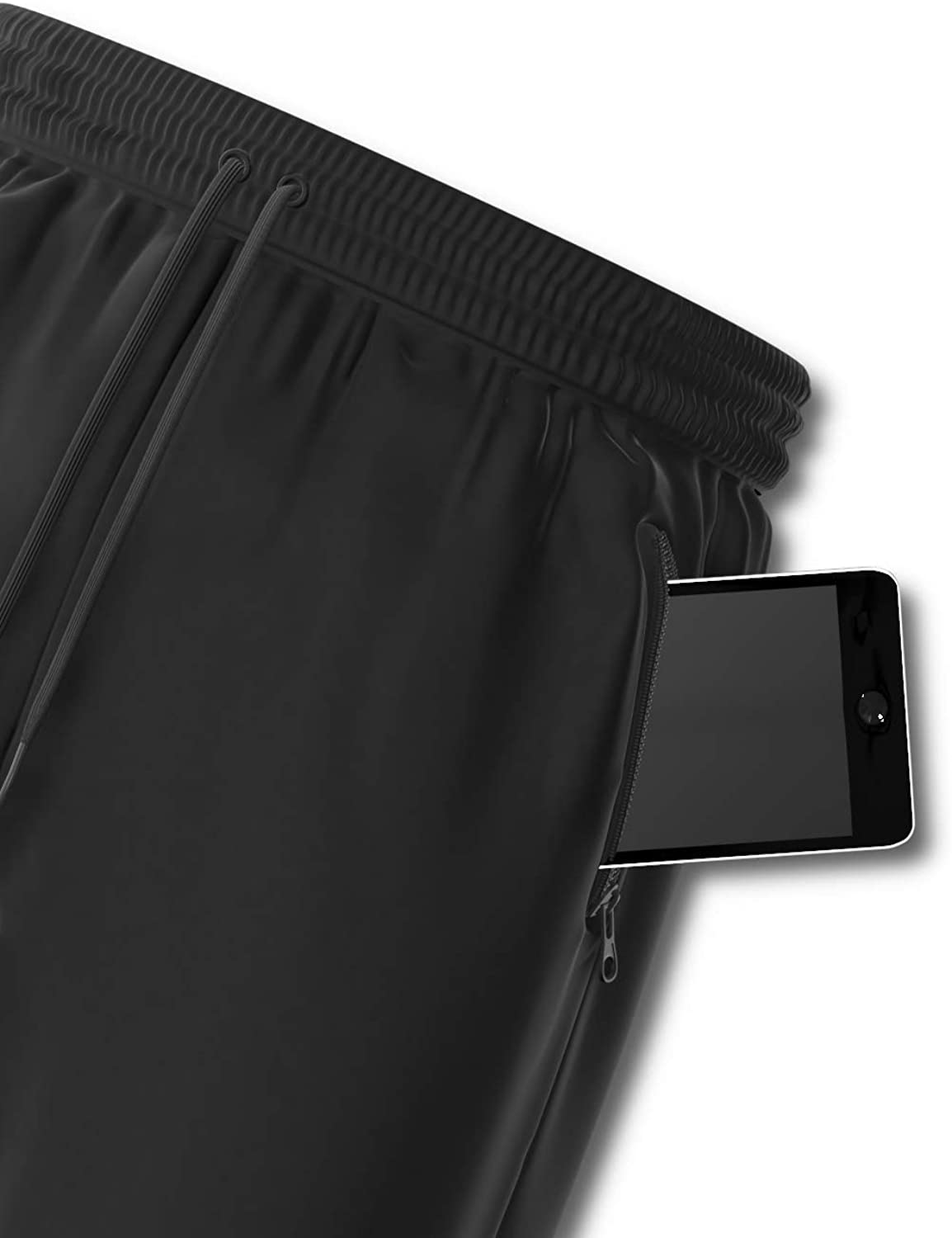 Comfort 360/° Running /& Workout Gym Shorts with Zipper Pockets Men/'s Premium Athletic Sports
