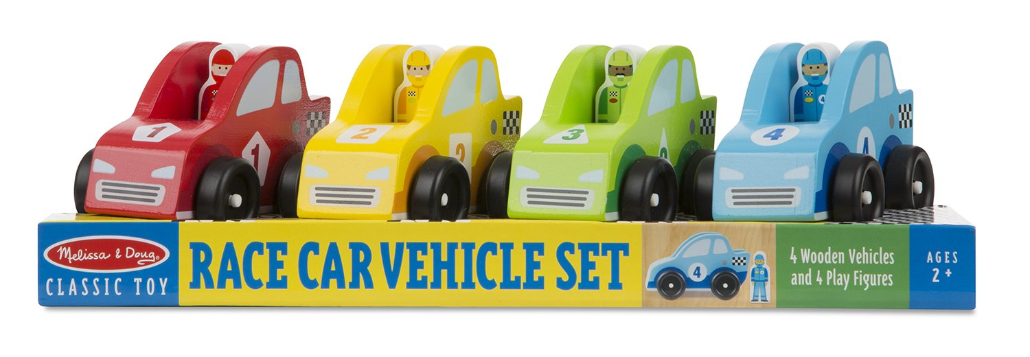 Melissa & Doug Race Car Vehicle Set by Melissa & Doug: Amazon.es: Juguetes y juegos