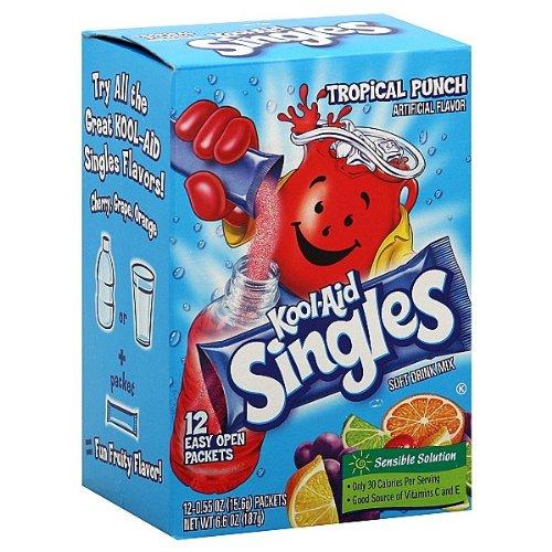 Kool Aid Punch - Kool-Aid Singles Tropical Punch Soft Drink Mix- 12 CT