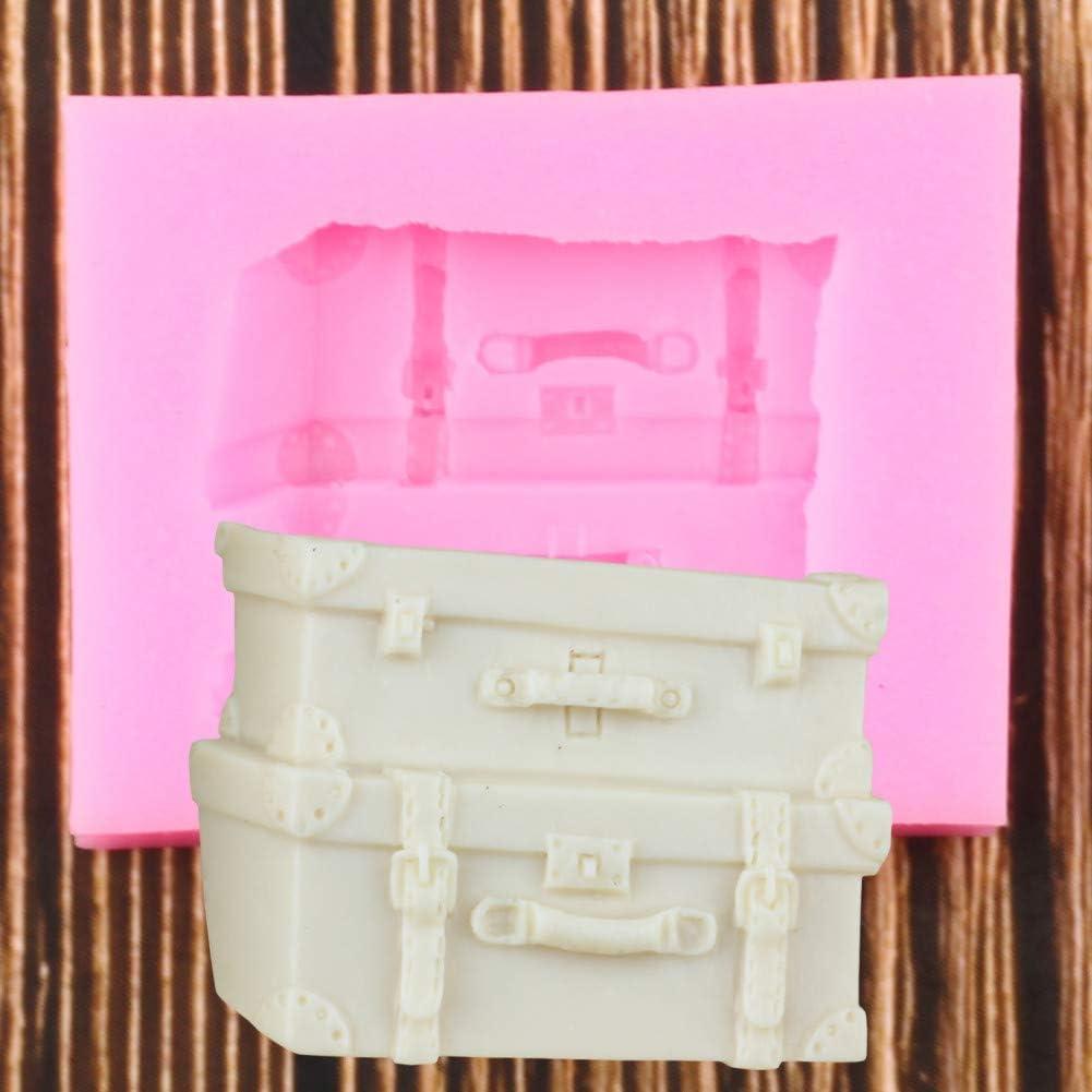 WYNYX Maleta Caja Equipaje Molde de Silicona Fondant Herramientas de decoración de Pasteles para HornearMoldes de Arcilla de Resina de Caramelo de Chocolate