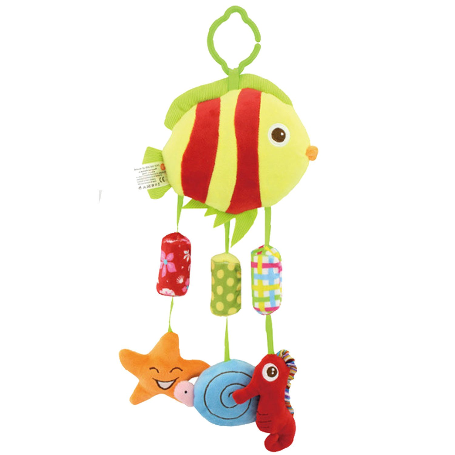 Elisona-Cute Funny Cartoon Animals Plush Baby Hanging Bells Toy Clip On Baby Carriage Crib Bed Stroller Hanging Toy Doll Elephant Style