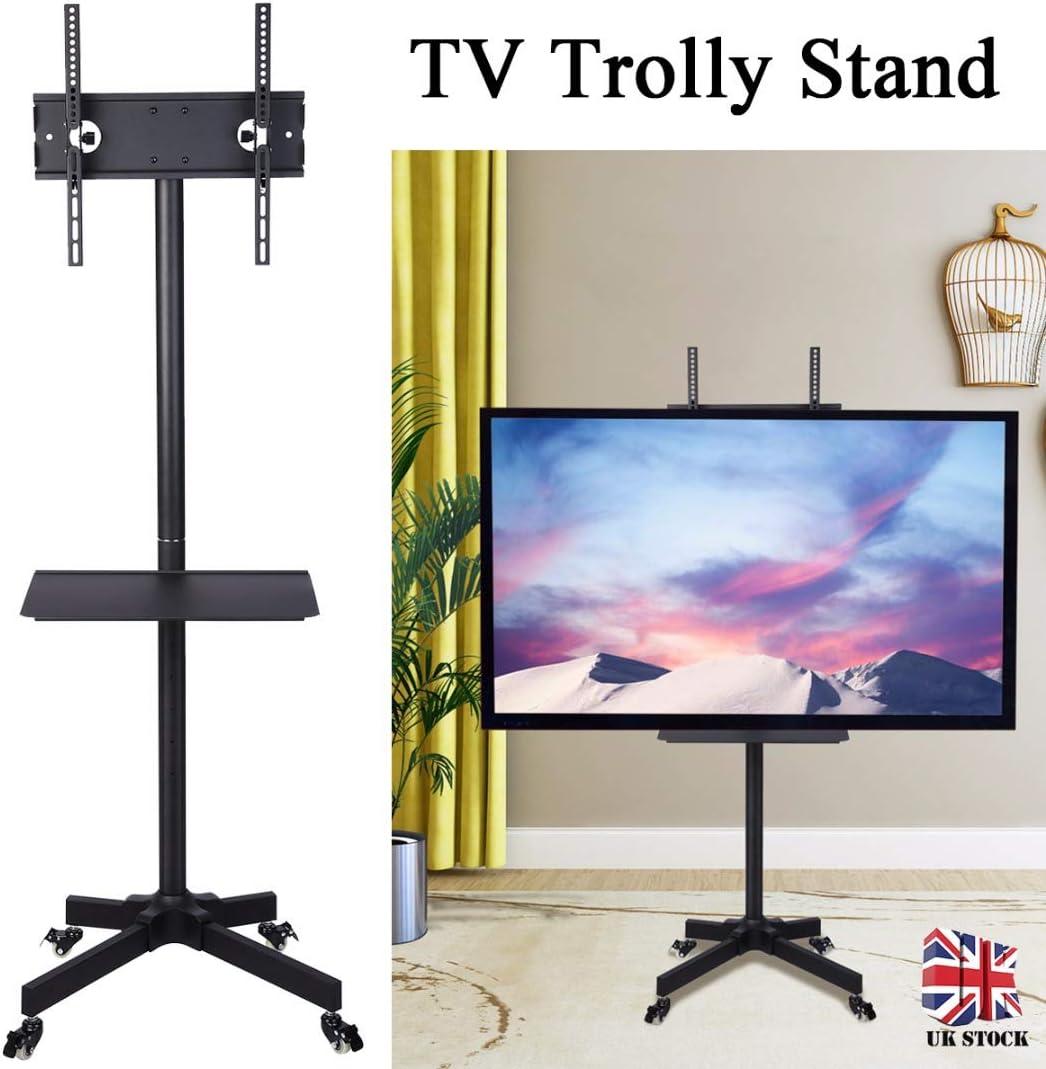 Soporte Universal para TV de 23 a 55 Pulgadas con Ruedas y Soporte para Pantalla Plana LED/LCD/Plasma, Altura Ajustable: Amazon.es: Electrónica