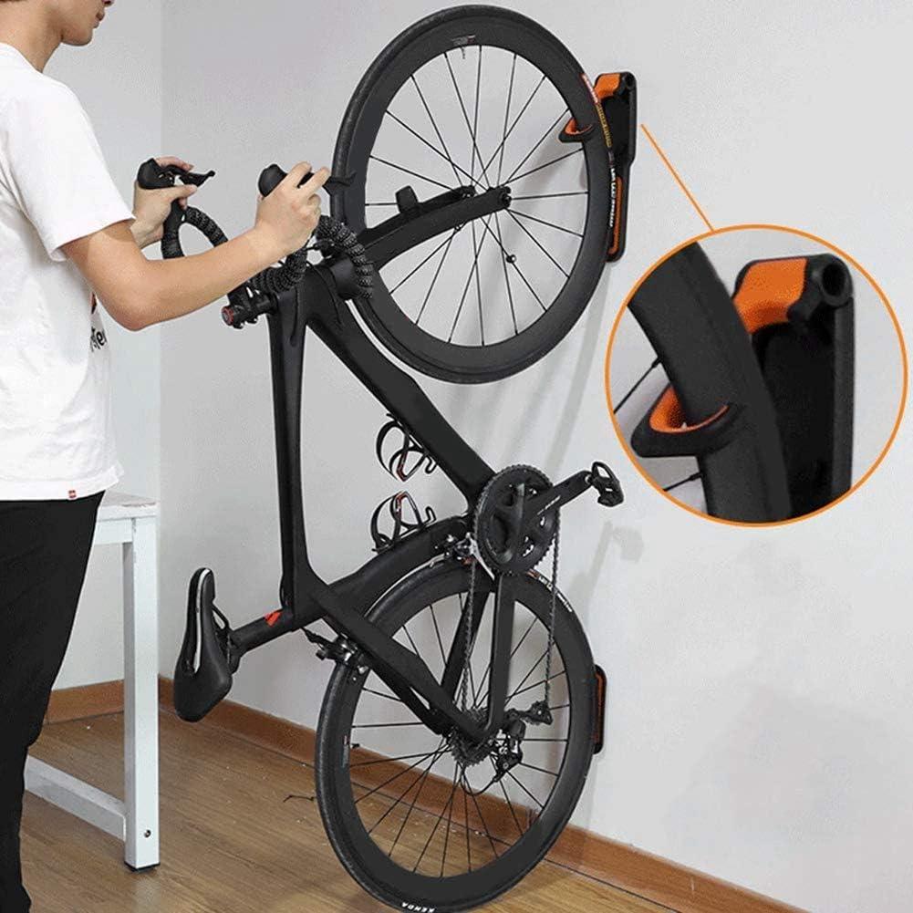 Soporte de pared para bicicleta plegable vertical soporte para bicicleta compatible con todos los tipos de bicicletas. Amarillo