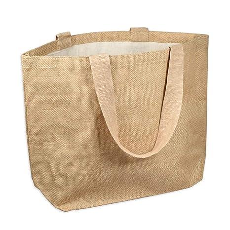 Amazon.com: Bolsas de yute de arpillera para playa ...