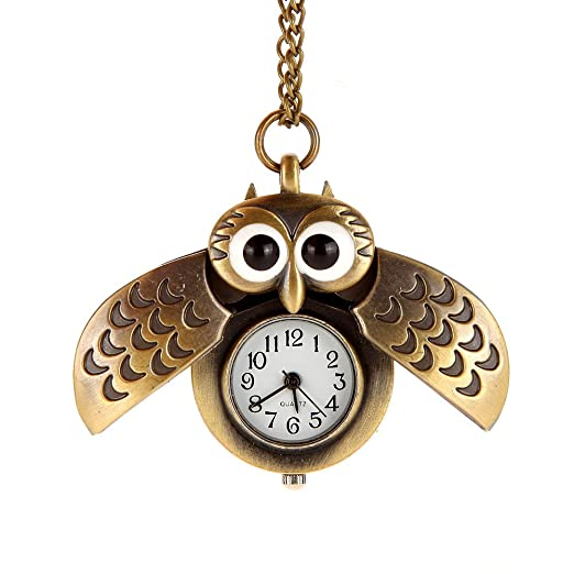 Abiertas Cuarzo Búho RelojBronce Awstech CadenaVestido Cartoon Colgante Vintage Ropa Fob Bolsillo Acero Lovely De Reloj Con Alas e2IWHED9Y