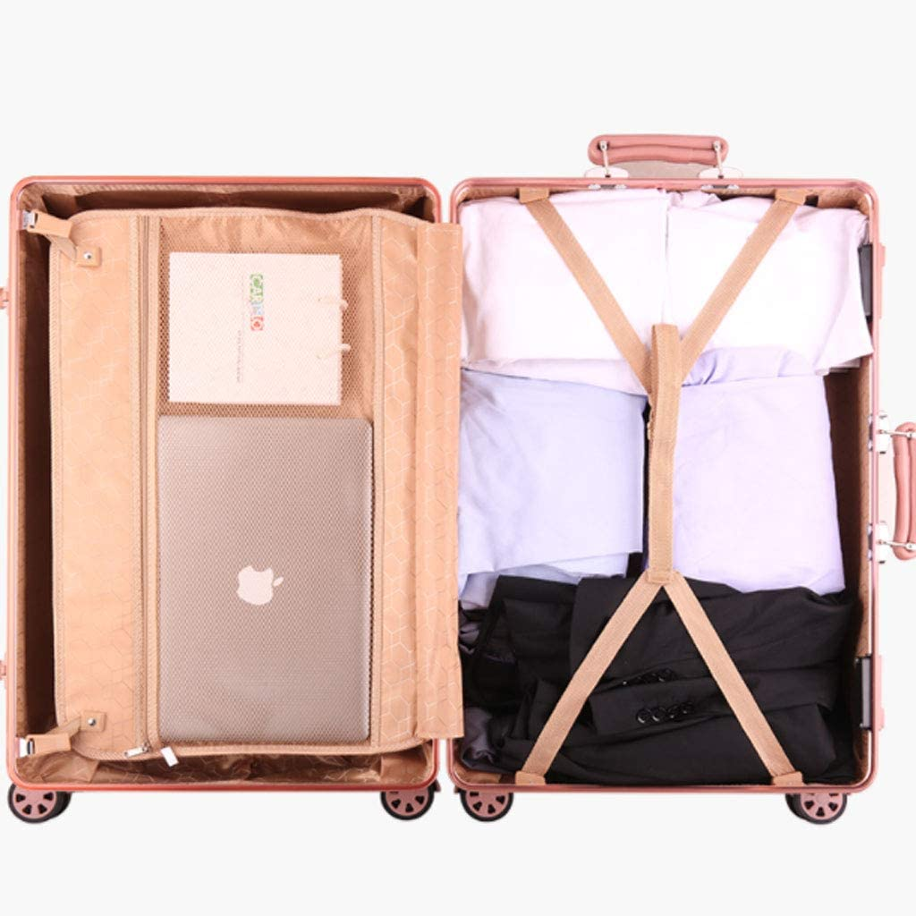 20//22//24//26 Inch White Color : Green, Size : 24 inches HUANGDA Aluminum Frame Retro Style Password Suitcase,Spinner Wheels Trolley Case