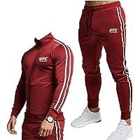 Mannen Trainingspak Joggingpak Sport Pak Fitness, Outdoor Sweatshirt Pak, Print Capuchon Trui MMA Fitness UFC Print Top…