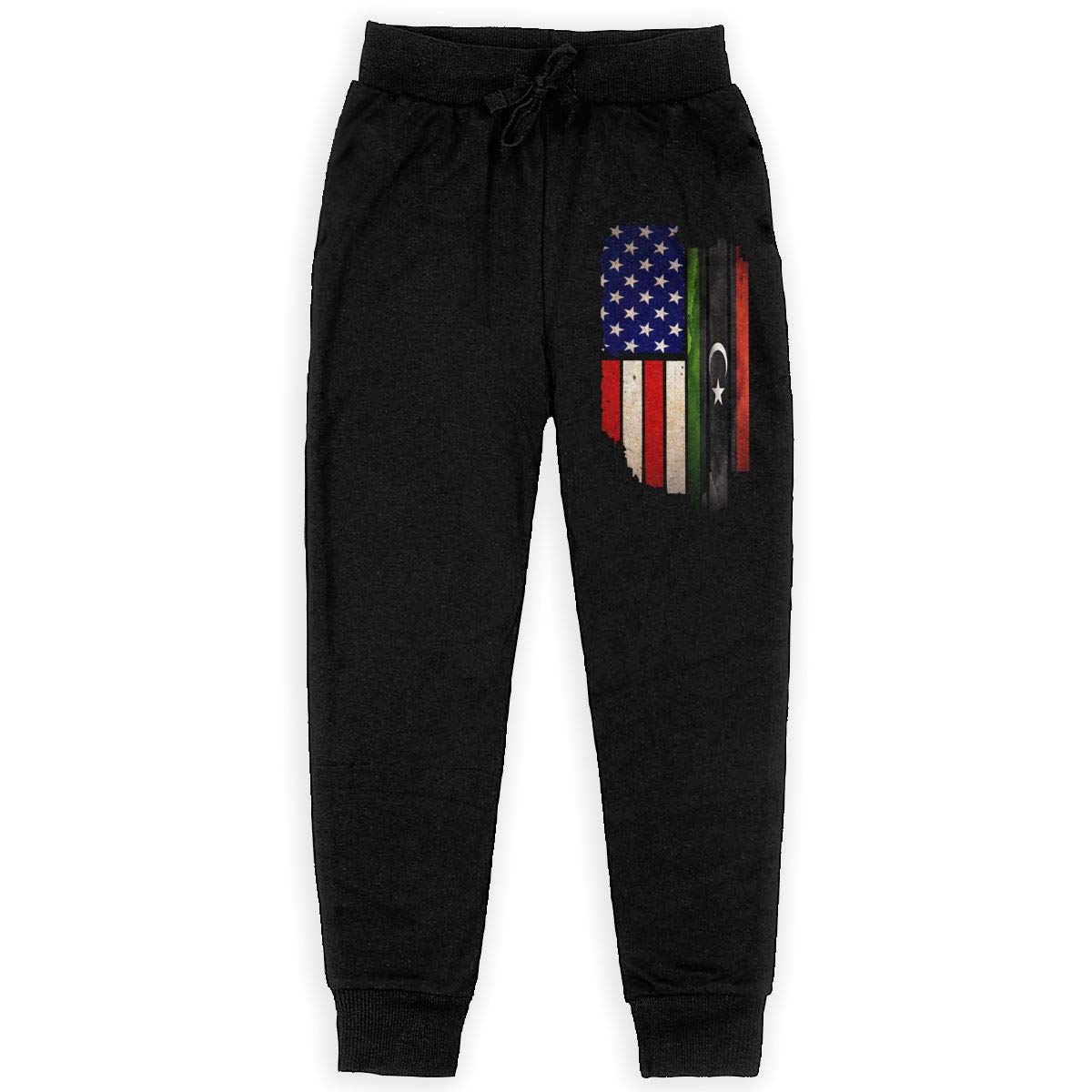 Vintage USA Libya Flag Soft//Cozy Sweatpants Boys Sweat Pant for Teen Girls