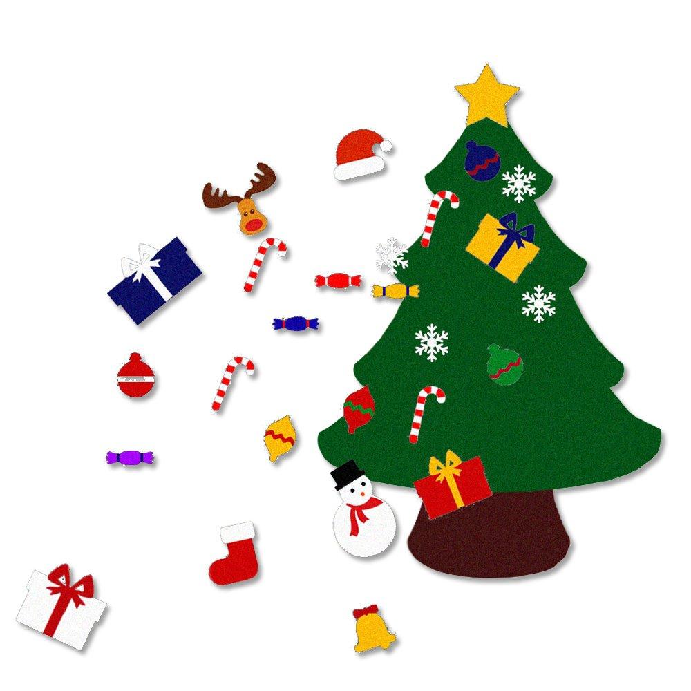 Amazon.com: KUNG FU PARTY 3.6FT(Large) Felt Christmas Tree Set with ...