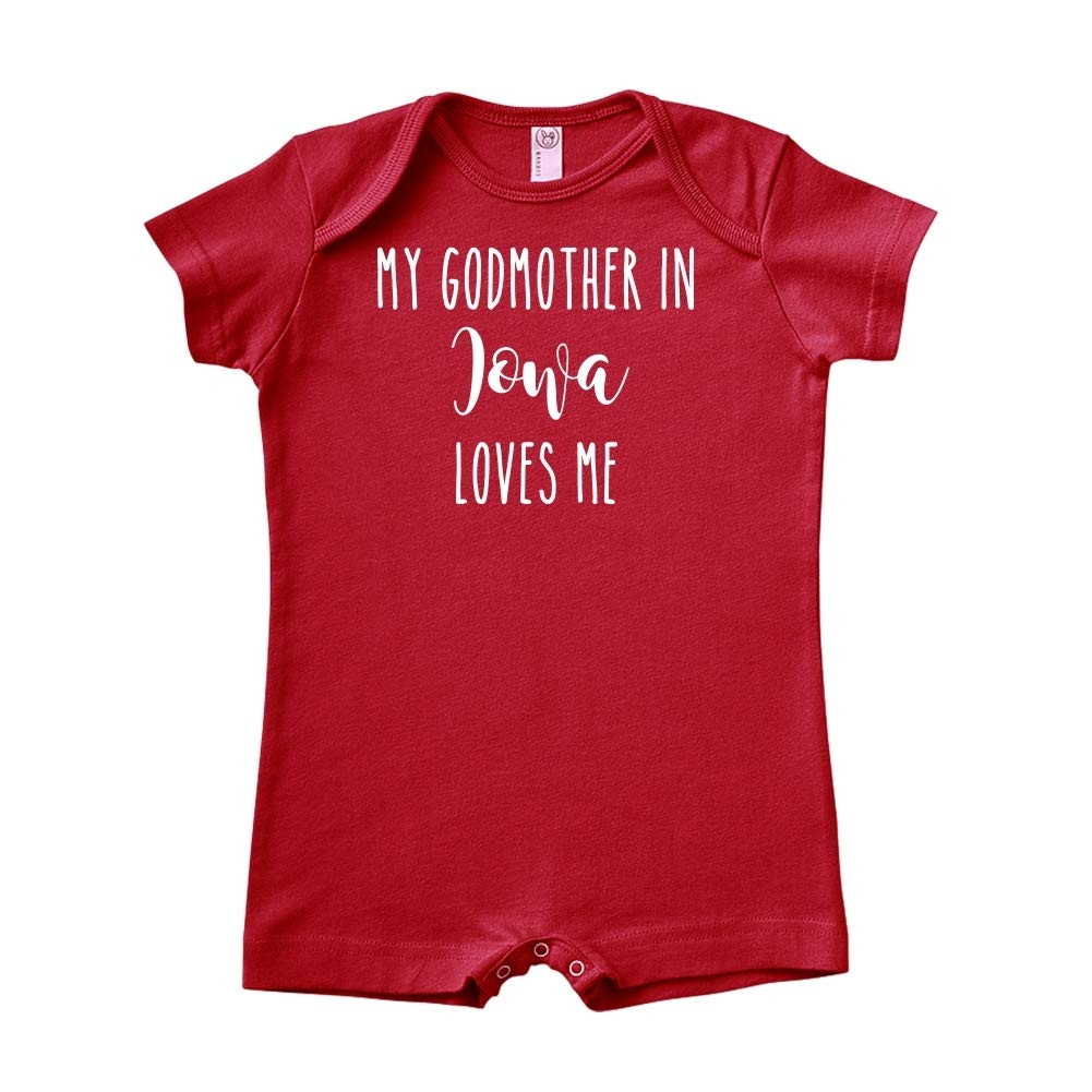 Baby Romper My Godmother in Iowa Loves Me