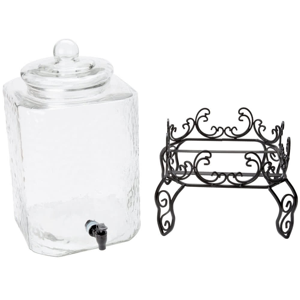 5 Gallon Glass Beverage Dispenser with Metal Stand TKT-11 by 5 Gallon Glass Beverage Dispenser with Metal Stand (Image #2)