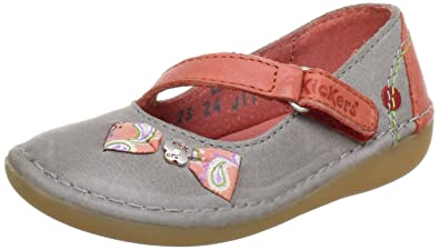 df5f5af6cdbf Kickers Girls Exquise Ballet Flats multi-coloured Mehrfarbig (gris rouge  123) Size