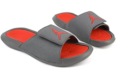 23c1ce9c576e NIKE Air Jordan Men s Hydro 6 Slides Cool Grey Max Orange