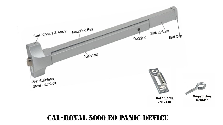 Panic Door Amp Ultracomm 02056 Bar Panic Exit Wide Head Alum