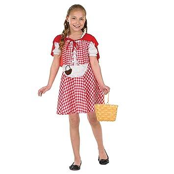 Fun Shack Roja Caperucita Roja Disfraz para Niñas - L: Amazon.es ...