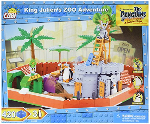 COBI The Penguins of Madagascar King Julien's Zoo Adventure (Best Of King Julian Madagascar)