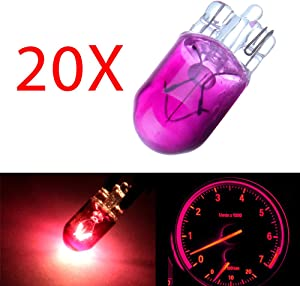 cciyu T10 194 168 Instrument Cluster Gauge Dash Halogen Bulb Replacement fit for Interior Light(20Pack Purple)