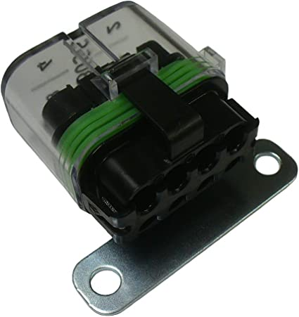 amazon.com: bussmann cfh mini atm waterproof fuse holder 12v with  terminals: car electronics  amazon.com